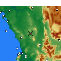 Nearby Forecast Locations - Malmesbury - Map