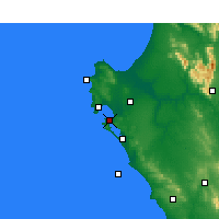 Nearby Forecast Locations - Langebaan - Map