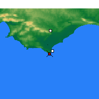Nearby Forecast Locations - Cape Agulhas - Map