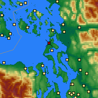 Nearby Forecast Locations - Whidbey Island - Map