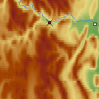 Nearby Forecast Locations - Deadman Valley - Map