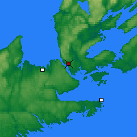 Nearby Forecast Locations - Port Hawkesbury - Map