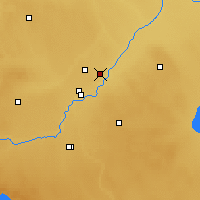 Nearby Forecast Locations - Oliver - Map