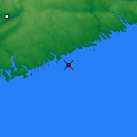 Nearby Forecast Locations - Beaven Island - Map