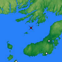 Nearby Forecast Locations - Sagona Island - Map