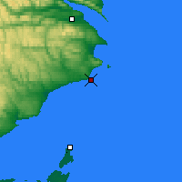Nearby Forecast Locations - Cap D'Espoir - Map