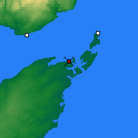 Nearby Forecast Locations - Bas Caraquet - Map