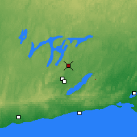 Nearby Forecast Locations - Peterborough Trent - Map
