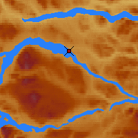 Nearby Forecast Locations - Ootsa Lakeskins Lak - Map