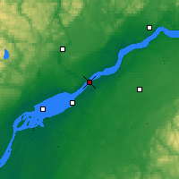 Nearby Forecast Locations - Trois-Rivières - Map