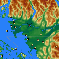 Nearby Forecast Locations - Pitt Meadows - Map