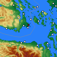 Nearby Forecast Locations - Victoria Uni. - Map