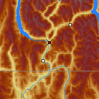 Nearby Forecast Locations - Castlegar - Map