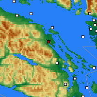 Nearby Forecast Locations - Baie-Comeau - Map