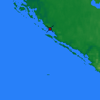 Nearby Forecast Locations - Inukjuak - Map