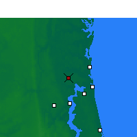Nearby Forecast Locations - Jacksonville Intl. Airport - Map