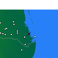Nearby Forecast Locations - Port Isabel - Map