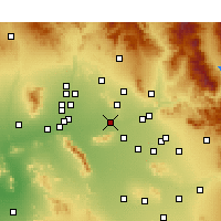 Nearby Forecast Locations - Phoenix - Map