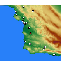 Nearby Forecast Locations - Santa Maria - Map