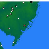 Nearby Forecast Locations - Atlantic City - Map