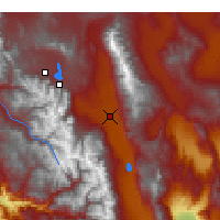 Nearby Forecast Locations - Bishop - Map