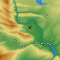 Nearby Forecast Locations - Hanford - Map