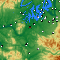Nearby Forecast Locations - Olympia - Map