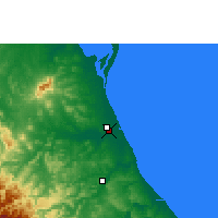 Nearby Forecast Locations - Tuxpan - Map