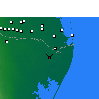 Nearby Forecast Locations - Matamoros - Map