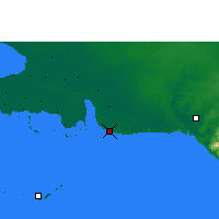 Nearby Forecast Locations - Playa Girón - Map