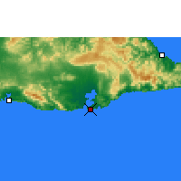 Nearby Forecast Locations - Guant. Bay - Map