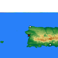 Nearby Forecast Locations - Mayagüez - Map