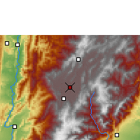 Nearby Forecast Locations - Bogotá - Map