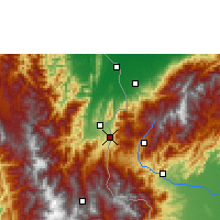 Nearby Forecast Locations - San Antonio del Táchira - Map