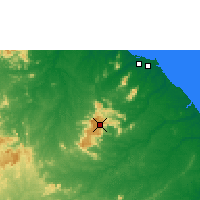 Nearby Forecast Locations - Guaramiranga - Map