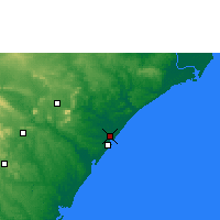 Nearby Forecast Locations - Aracaju - Map
