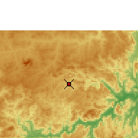 Nearby Forecast Locations - Pedra Azul - Map