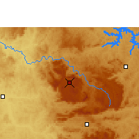 Nearby Forecast Locations - Poços de Caldas - Map