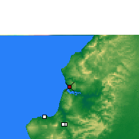 Nearby Forecast Locations - Bahía de Caráquez - Map