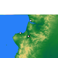 Nearby Forecast Locations - Portoviejo - Map