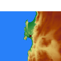 Nearby Forecast Locations - Antofagasta - Map