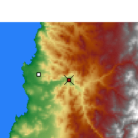 Nearby Forecast Locations - Copiapó - Map