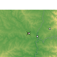 Nearby Forecast Locations - Guaraní Intl. Airport - Map