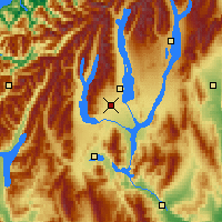 Nearby Forecast Locations - Twizel - Map