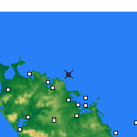 Nearby Forecast Locations - Cavalli Islands - Map
