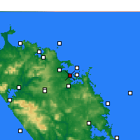 Nearby Forecast Locations - Paihia - Map