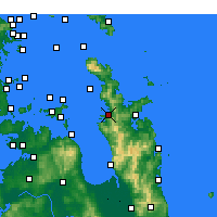 Nearby Forecast Locations - Coromandel - Map