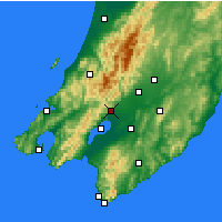 Nearby Forecast Locations - Featherston - Map