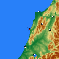 Nearby Forecast Locations - Punakaiki - Map