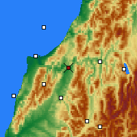Nearby Forecast Locations - Inangahua Junction - Map